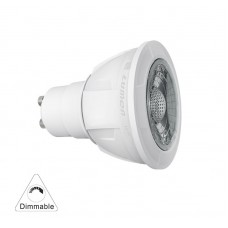 ΛΑΜΠΑ LED COB CREE USA chip (PA-T) GU10 8.5W 230V ΝΤΙΜΑΡΙΖΟΜΕΝΗ / DIMMABLE 36° ΦΥΣΙΚΟ ΛΕΥΚΟ 4000Κ